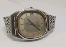 Omega Deville Stainless Steel Date Quartz beautiful dial