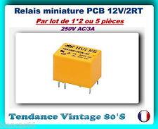 *** LOT AU CHOIX DE 1*2 OU 5 RELAIS 12VOLTS PCB 6 PIN 2RT/250V-3A ***