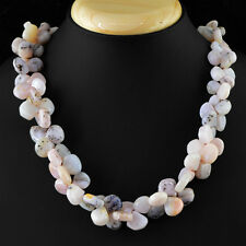 AMAZING 560.00 CTS NATURAL UNTREATED RICH PINK AUSTRALIAN OPAL BEADS NECKLACE