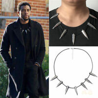 Black Panther Comics Necklace Wakanda King T'Challa Movie Spike Cosplay Collar