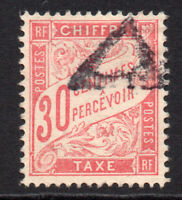 France 30 Cent Postage Due Stamp c1893-41 Used (8551)
