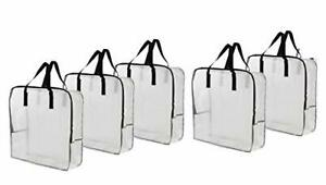 Extra Large Clear Storage Bag Moving Totes for Clothing  Bedding, Linen(5 Pack)