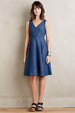 NWT ANTHROPOLOGIE Seamed Denim Dress by Holding Horses Size 10 Sold Out 5 Star