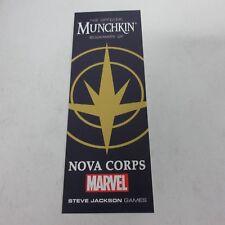 Steve Jackson Games USAopoly Marvel Munchkin Nova Corps Bookmark NEW