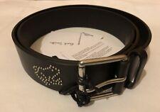 "🐸 New Paul Smith Men Black Dreamer Stud Motif Leather Belt, Size 38"" RRP £160"