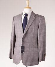 NWT $2495 ARMANI BLACK LABEL Gray Check Wool-Silk-Linen Sport Coat Slim 46 S