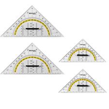 4 Stück Geodreieck 2x Groß + 2x Klein mit Griff WESTCOTT Geometrie Dreieck