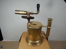 1909 OTTO BERNZ Newark NJ Solid Brass GASOLINE BLOW TORCH w/built-in Pump