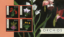 Guyanese Flowers Sheet Postal Stamps