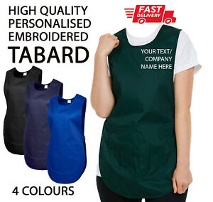 Custom Personalised TABARD Work Wear Embroidered Company TEXT Cleaning Apron
