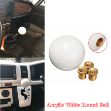 Car Manual Transmission Gear Shift Knob Shifter Lever White Round Ball Button