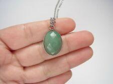 Aventurine Pendant Healing Reiki Chakra Real Stone Silver Necklace Ladies Gift