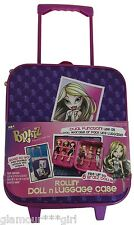 Bratz Rolling Large Suitcase Luggage PURPLE Lightweight Discontinued NWT RARE