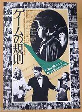 LA REGLE DU JEU Original Japan Chirashi Mini Poster 1982 RULES OF THE GAME 1939