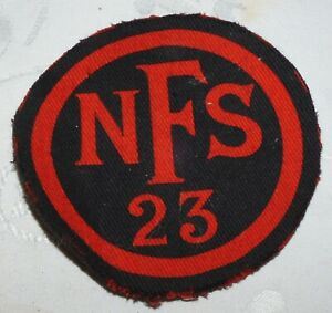 WW2 OBSOLETE NATIONAL FIRE SERVICE NFS 23 REGION HOME FRONT PATCH BADGE