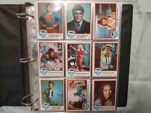Superman 1,2,3  trading cards full  Set's including Stickers MINT 1978,1980,1983