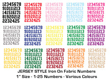 ADVENT Iron on Die Cut Fabric Numbers 1-25 1 Inch Craft/Christmas - JERSEY STYLE