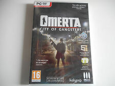 JEU PC DVD-ROM NEUF - OMERTA / CITY OF GANGSTERS