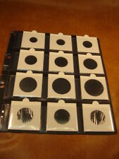 10 Hojas NUMISMATICAS transparentes, tamaño 26x23 cm.aprox. para 12 cartones