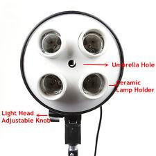 4 in 1 E27 Light Lamp Bulb Head Bracket Umbrella Holder For Photo Studio Softbox