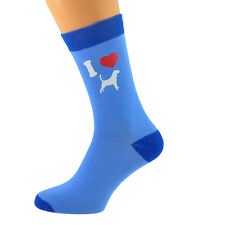 Dos Tonos Azul Calcetines Unisex I Love Beagles Perro Design UK Size 5-12 X6N576