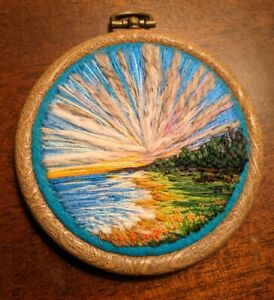 Vera Shimunia Custom Embroidery Thread Stitching Art 1/1 Rare!