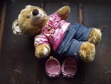 """Build-a-Bear 14"""" Ours Brun Habillé Femmes/Filles Vêtements/Outfit jeans/Chaussures/Top"""