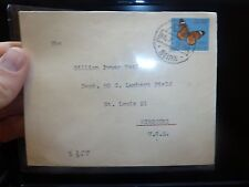 Mozambique 2#30 Butterfly 1958 A/M Beira to USA (37bee)