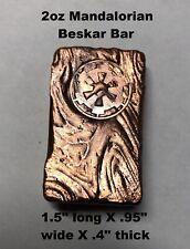 2+ oz Hand Poured Mandalorian Beskar Bar - 999 Fine - Art Collectible Bullion