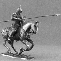 1/32 Figure Russian Toy Soldiers Mounted Knight Cavalry Tin Miniatures