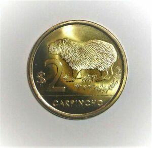 2014 Uruguay 2 pesos, Capybara, animal wildlife coin
