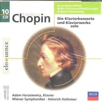 Frederic Chopin the piano concerts solo keyboard works box CD NEW Harasiewicz