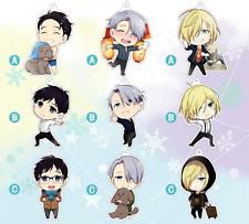 9pcs/set  New Anime Yuri!!! on Ice Nikiforov Victor Dakimakura keychain