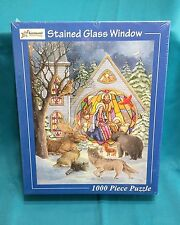 Stained Glass Window Puzzle 1000 Piece Vermont Christmas Co Nativity Religious
