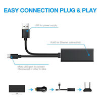 Micro USB to RJ45 Ethernet Adapter Network Card for Chromecast for Fire TV Stick