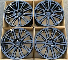 "20"" Audi A7 S7 A8 S8 A6 Factory Wheels Rims Gloss Black OEM New 4H0601025AE"