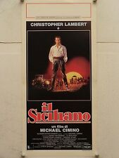 IL SICILIANO drammatico regia Michael Cimino locandina orig. 1987