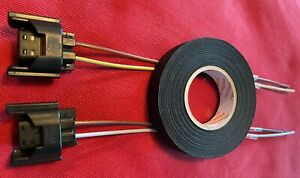 2x H8 H11 Gehäuse 20cm offenen Kabelenden NSW 3D0941165A VW Audi + Wickelband