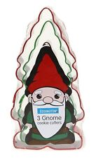 Set Of 3 Gnome Shape Metal Cookie/Biscuit Cutters Eddingtons