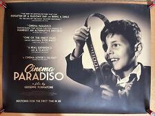 Rare - Cinema Paradiso - Original Uk Cinema Quad Poster - 4K Rerelease 2020