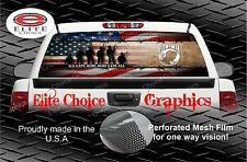 Wicked Wire POW Patriotic Vets Flag Rear Window Graphic Decal Sticker Truck SUV