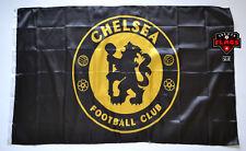 Chelsea Flag Banner 3x5 ft England Premier Football Soccer Black Gold Premium