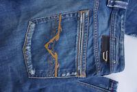 DIESEL Herren Jeans Hose  W32 L34 L36 used look Risse blau stonewashed TOP ad22