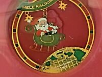 Island Heritage Christmas Ornaments: Collectible 3-Pack Hawaiian Mele Kalikimaka