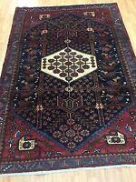 "4'9"" x 6'8"" Turkish Oriental Rug - 1950s - Hand Made - 100% Wool"
