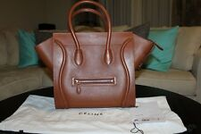 Celine Mini Luggage Caramel Brown Baby Grained Calfskin Handbag Bag Authentic!