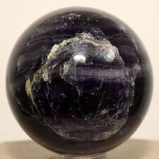 49mm Deep Purple Fluorite Sphere Natural Mineral Polished Crystal Ball - China