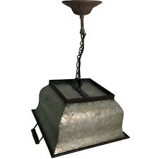 Galvanized Bucket Pendant Lamp,Antique Vintage Farmhouse Style,Rustic 5626