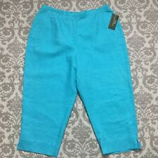 Laura Ashley Womens Pants size 20W new nwt $78 Turqouise Blue Capris Cropped