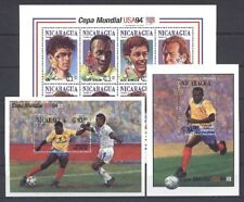 El fútbol WM 1994, soccer-nicaragua - 3388-3395, bl.224-225 ** mnh